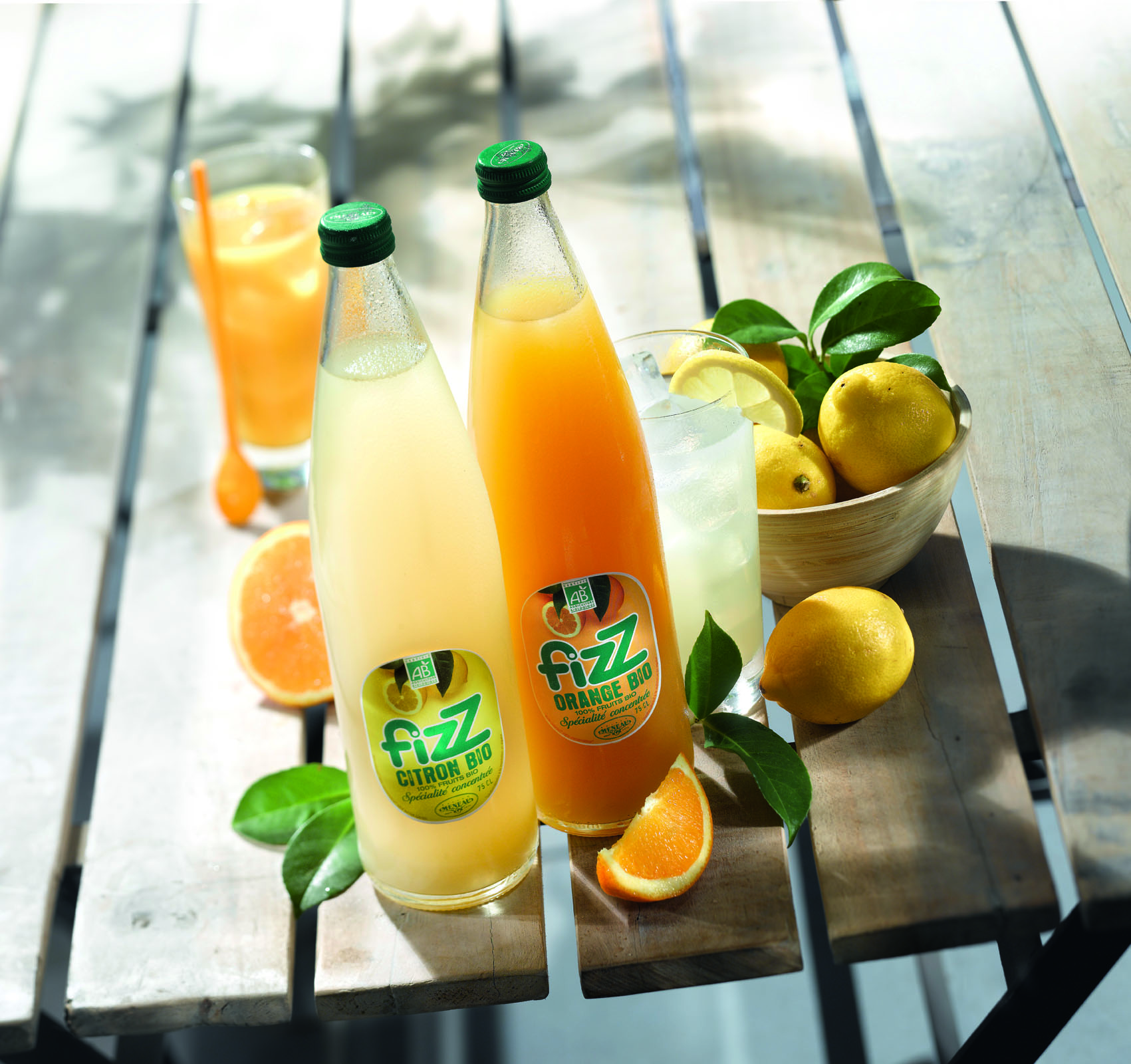 Fizz citron et Fizz orange bio